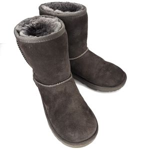 UGG - Gray Classic II Short Lined Suede Boots 2